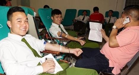 Tuổi trẻ Công an Hải Phòng hiến hơn 300 đơn vị máu