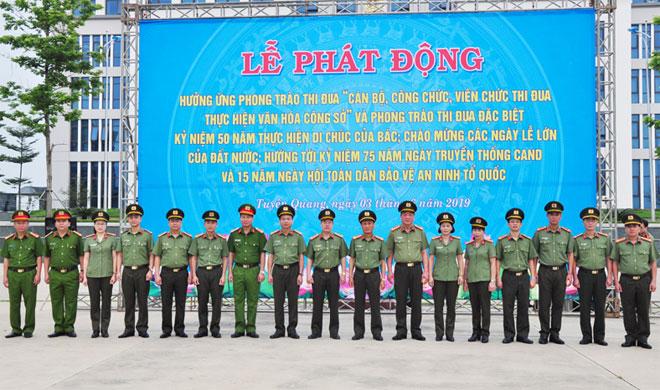 Công an tỉnh Tuyên Quang phát động phong trào thi đua đặc biệt