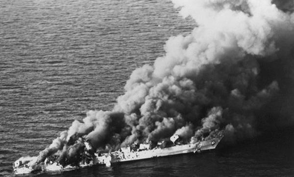 Mỹ nhiều lần dùng lí do tàu bè bị tấn công ở Eo biển Hormuz để tấn công Iran.