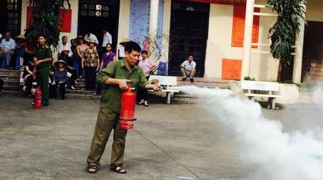 Tuyên truyền phòng cháy chữa cháy cho các tổ dân phố