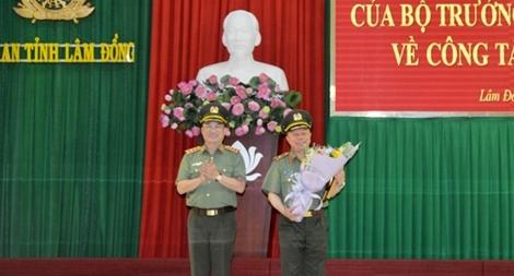 Công bố quyết định về công tác cán bộ tại Công an Lâm Đồng