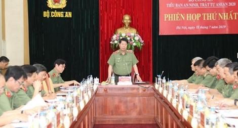 Tiểu Ban an ninh, trật tự ASEAN 2020 Bộ Công an tổ chức phiên họp thứ nhất