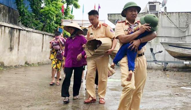 Lực lượng Công an chủ động ứng phó với bão số 3 và mưa lũ, sạt lở đất