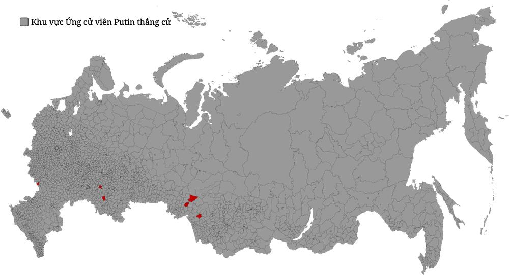 Bản đồ hiển thị Cuộc bầu cử tại Nga năm 2004.