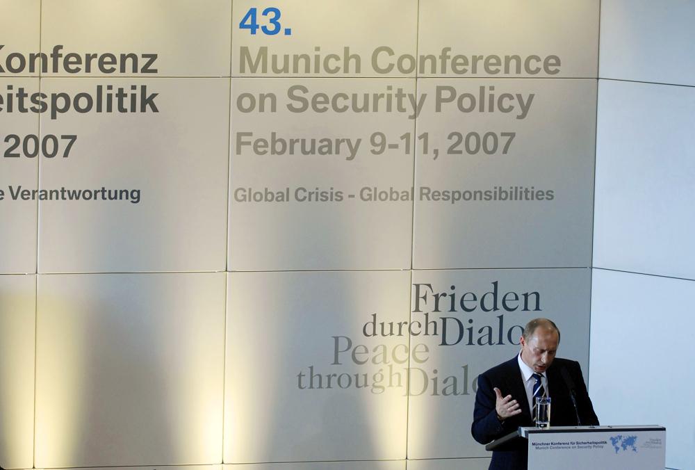 Tổng thống Putin tại Hội nghị an ninh Munich.