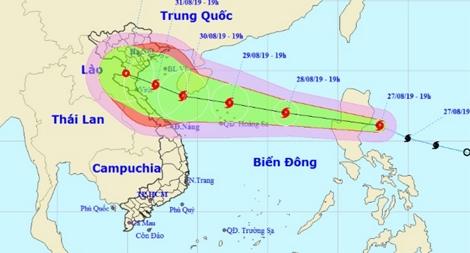 Lực lượng Công an chủ động ứng phó với diễn biến bão Podul