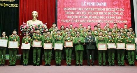 Học viện CSND vinh danh các tập thể, cá nhân xuất sắc trong các cuộc thi, Hội thi