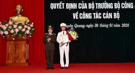 Công bố quyết định bổ nhiệm Giám đốc Công an tỉnh Tuyên Quang