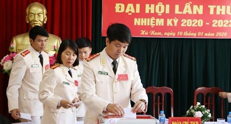 Đảng bộ Công an tỉnh Hà Nam làm tốt công tác chuẩn bị hướng tới Đại hội Đảng các cấp