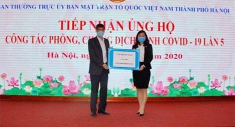 Tập đoàn CEO ủng hộ 2 tỷ đồng cùng TP Hà Nội chống dịch COVID-19
