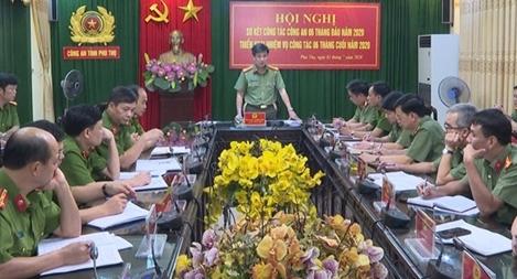 Công an tỉnh Phú Thọ triển khai nhiệm vụ công tác 6 tháng cuối năm