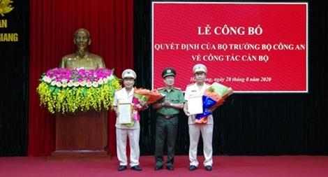 Công bố quyết định bổ nhiệm các Phó Giám đốc Công an tỉnh Hà Giang