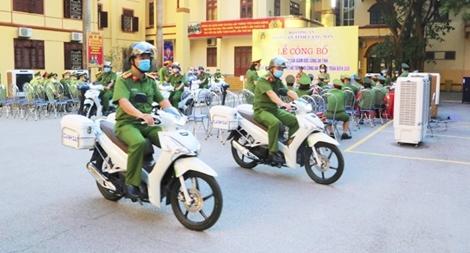 Bàn giao phương tiện cho Công an xã, thị trấn biên giới tỉnh Lạng Sơn