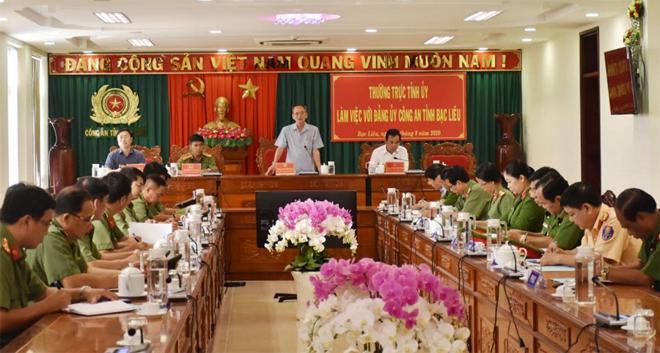 Thường trực Tỉnh ủy làm việc với Đảng ủy Công an tỉnh Bạc Liêu - Ảnh minh hoạ 2