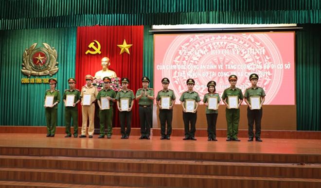 Thái Bình hoàn thành việc bố trí Công an chính quy đảm nhiệm chức danh Công an xã