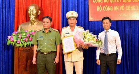 Công an tỉnh Cà Mau có thêm Phó giám đốc