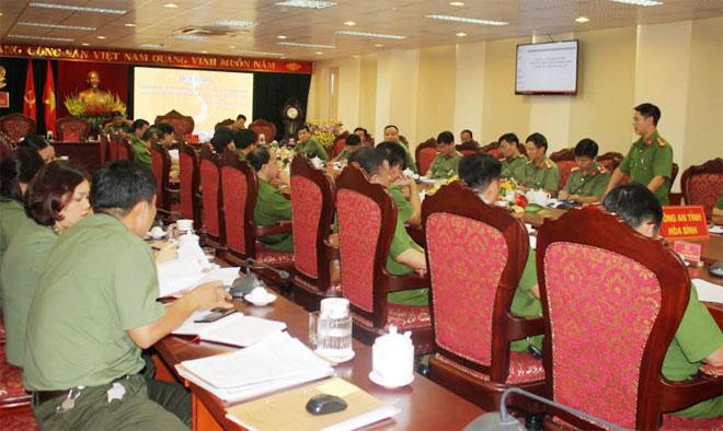 Triển khai phương án đảm bảo an ninh an toàn ĐHĐB tỉnh Hòa Bình