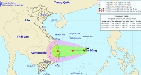 Chủ động ứng phó với diễn biến vùng áp thấp trên biển Đông