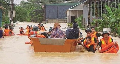 Lực lượng Công an chủ động ứng phó với bão số 8 và khắc phục hậu quả mưa lũ