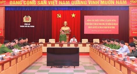 Thứ trưởng Bộ Công an Lê Quốc Hùng làm việc với Công an TP Hải Phòng