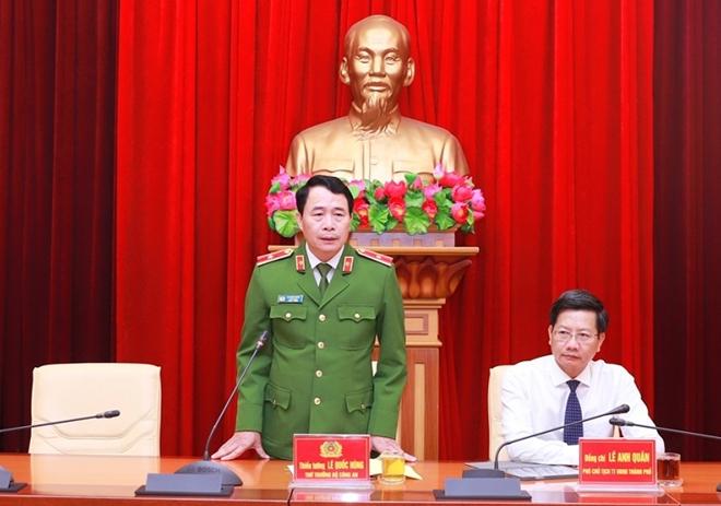 Thứ trưởng Bộ Công an Lê Quốc Hùng làm việc với Công an TP Hải Phòng - Ảnh minh hoạ 2