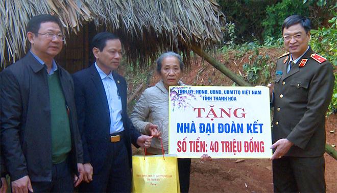 Kiểm tra công tác bảo đảm ANTT của Công an huyện Ngọc Lặc, Thanh Hóa