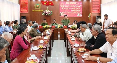 Công an tỉnh Kiên Giang họp mặt truyền thống nhân dịp Xuân Tân Sửu 2021