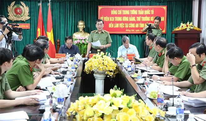 Lãnh đạo Bộ Công an kiểm tra công tác tại Công an tỉnh Đồng Nai - Ảnh minh hoạ 2