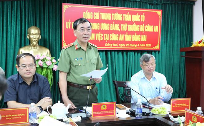 Lãnh đạo Bộ Công an kiểm tra công tác tại Công an tỉnh Đồng Nai