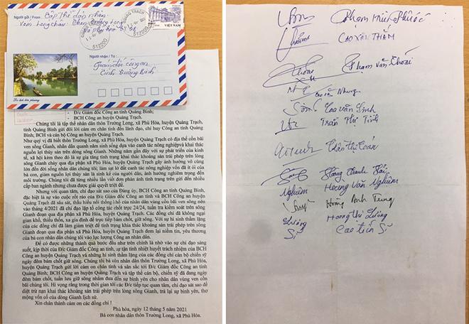 Người dân cả thôn viết thư ký tập thể cảm ơn lực lượng Công an