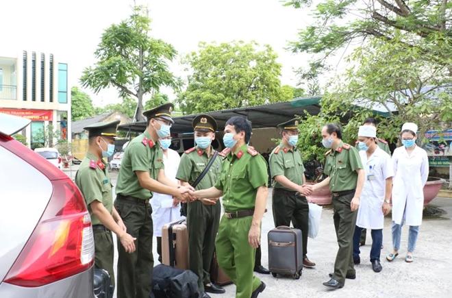 Bệnh viện Công an tỉnh Thanh Hóa chi viện chống dịch tại TP Hồ Chí Minh