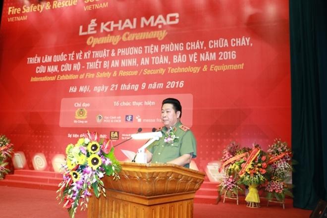 Khai mạc triển lãm quốc tế kỹ thuật, phương tiện PCCC, CNCH và thiết bị an ninh