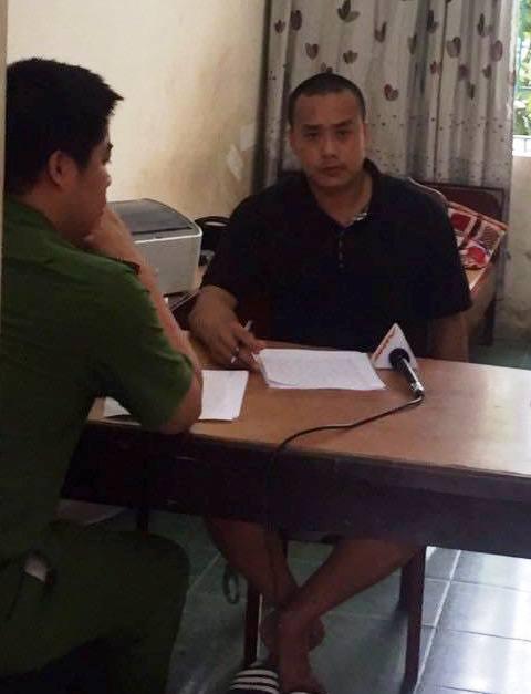 Công an tỉnh Vĩnh Phúc lấy lời khai đối tượng Nguyễn Văn Cường