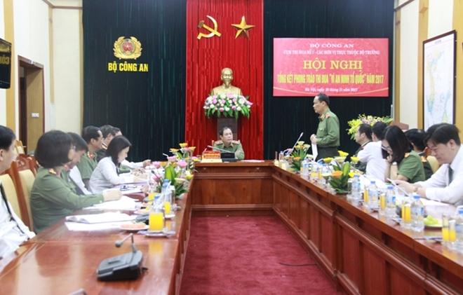 Cụm thi đua số 1- các đơn vị trực thuộc Bộ trưởng tổng kết phong trào thi đua Vì ANTQ