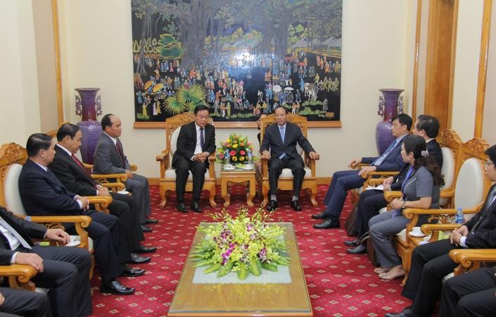 Thứ trưởng Lê Qúy Vương tiếp xã giao Đoàn đại biểu lực lượng Cảnh sát Lào
