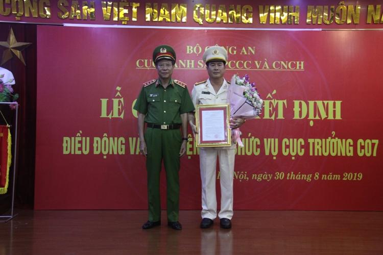 Bổ nhiệm Cục trưởng Cục Cảnh sát PCCC&CNCH