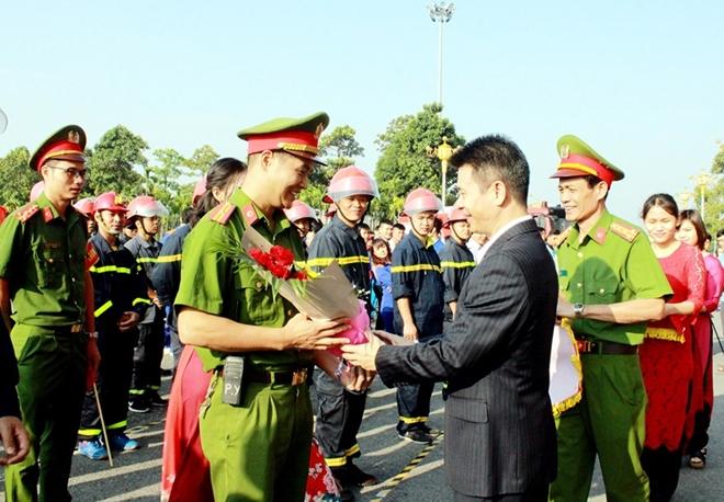 Hơn 200 VĐV tham gia Hội thao chữa cháy và cứu nạn tỉnh Vĩnh Phúc