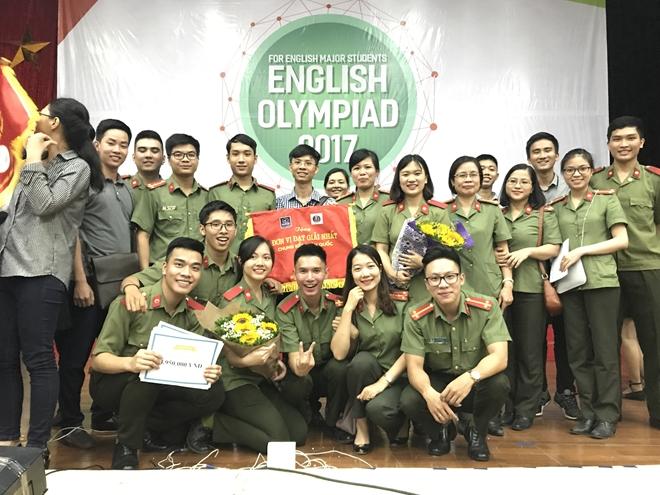 Học viện An ninh Nhân dân giành Quán quân Olympic tiếng Anh chuyên toàn quốc 2017