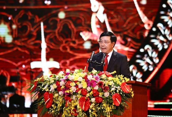 Phó Thủ tướng, Bộ trưởng Ngoại giao Phạm Bình Minh phát biểu khai mạc đêm giao lưu
