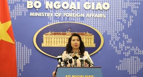 Bộ Ngoại giao lên tiếng việc Trung Quốc xây đường cáp ngầm ở Biển Đông