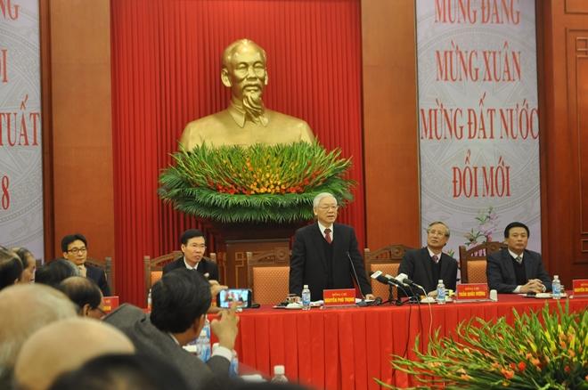 Tổng Bí thư Nguyễn Phú Trọng chủ trì buổi gặp mặt trí thức, văn nghệ sĩ