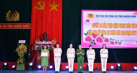 Thực hiện phong trào thi đua trong phụ nữ CA tỉnh Quảng Nam