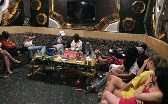 47 nam, nữ phê ma túy trong quán karaoke Diamond