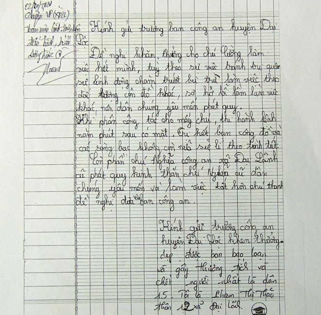 Người dân gửi nhiều thư khen Công an huyện Đại Lộc - Ảnh minh hoạ 3