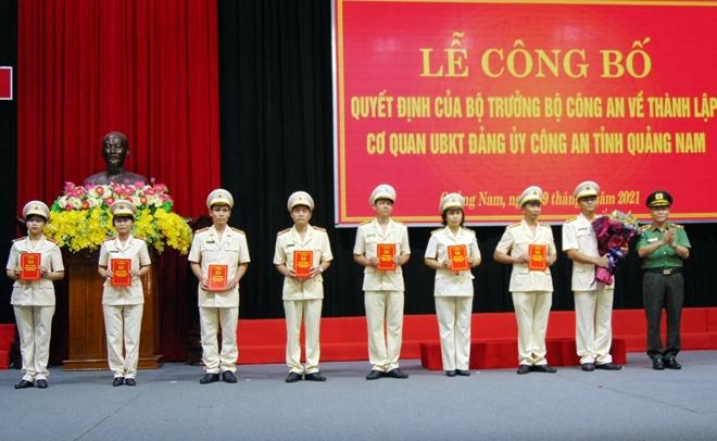 Thành lập Cơ quan Ủy ban Kiểm tra Đảng ủy Công an tỉnh Quảng Nam