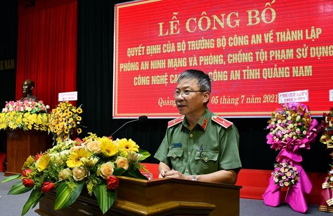 Thành lập Phòng An ninh mạng và PCTP sử dụng công nghệ cao Công an Quảng Nam