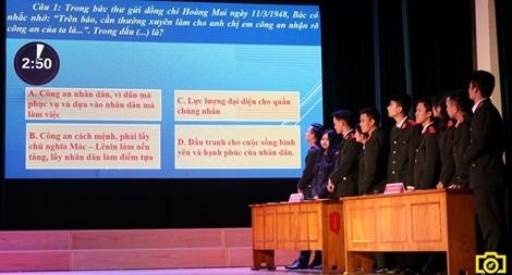 """Sôi nổi hội thi """"Tìm hiểu về tư tưởng Hồ Chí Minh và 6 điều Bác dạy CAND"""""""