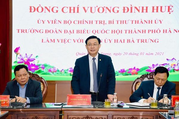 Bí thư Thành ủy Hà Nội đề nghị sớm triển khai phố đi...