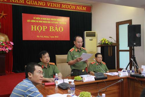 Họp báo Kỷ niệm 70 năm Ngày truyền thống lực lượng An ninh