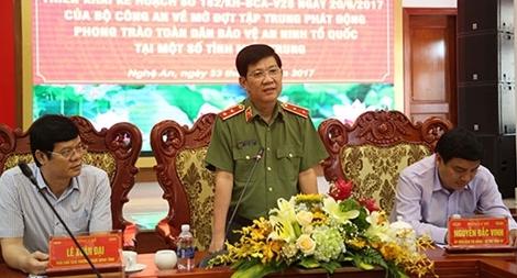Triển khai kế hoạch phát động phong trào toàn dân BVANTQ tại miền Trung